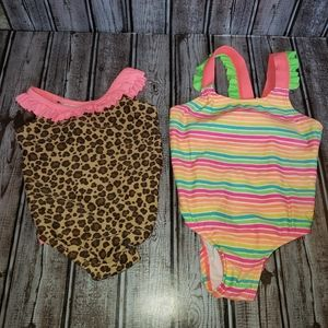 Bundle of Two OP One Piece Swimming Suits 12M